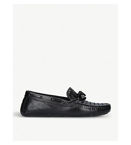 BOTTEGA VENETA Wave Bells leather driver shoes (Black