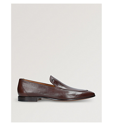 STEMAR Contrast-trim leather loafers (Brown