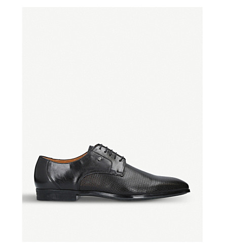 STEMAR Perforated leather Derby shoes (Black