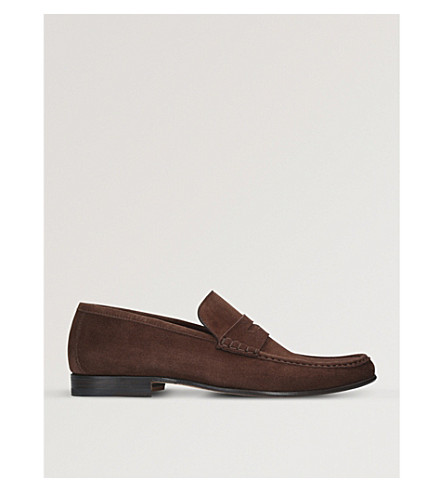 STEMAR Sorrento suede penny loafers (Brown