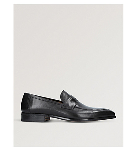 STEMAR Chisel leather penny loafers (Black