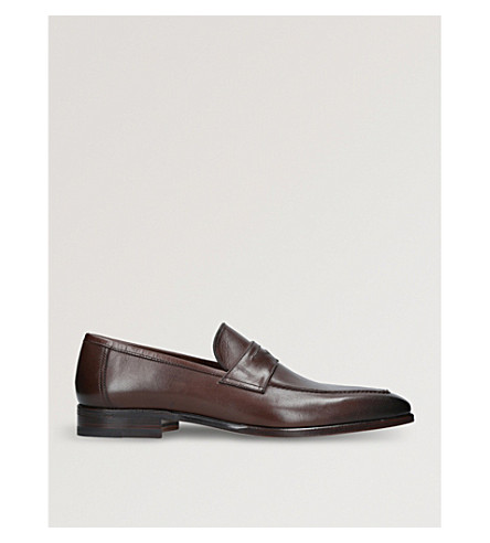 STEMAR Chisel leather penny loafers (Brown