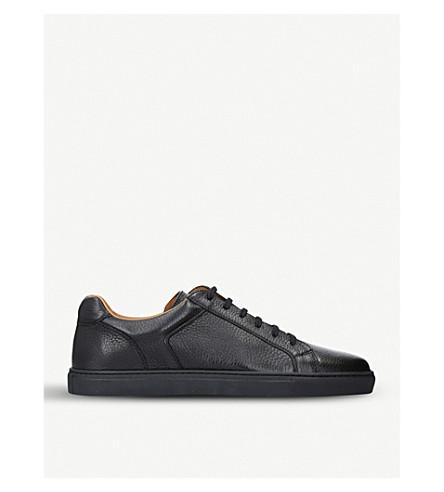 STEMAR Deerskin-leather trainers (Black