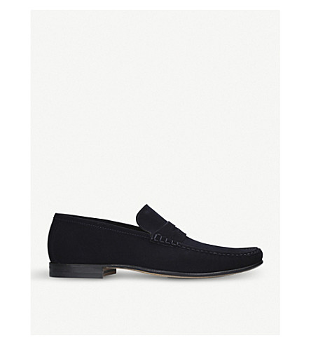 STEMAR Sorrento suede penny loafers (Navy
