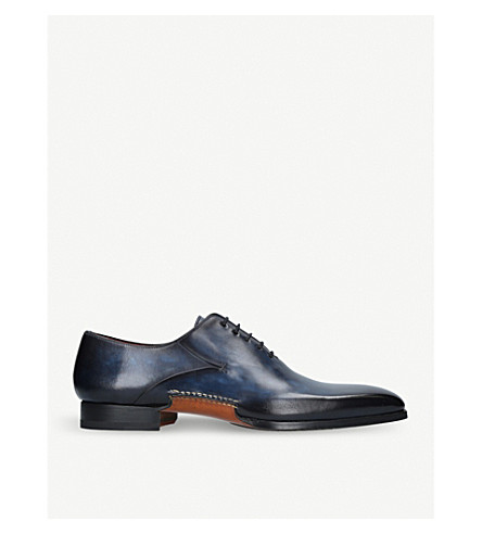 MAGNANNI Opanka leather Oxford shoes (Blue