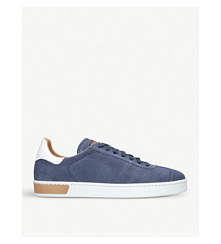 MAGNANNI Tennis suede trainers (Navy