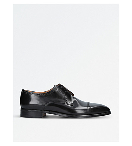 STEMAR Perugia leather derby shoes (Black