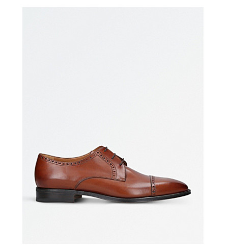 STEMAR Perugia leather derby shoes (Tan