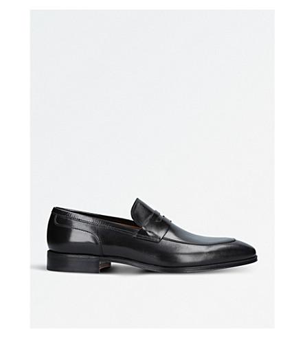 STEMAR 比萨皮革便鞋 (黑色