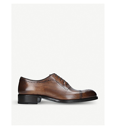 TOM FORD Edgar whole-cut leather brogues (Brown