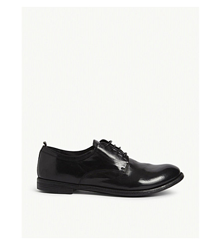 OFFICINE CREATIVE Archive leather derby shoes (Black