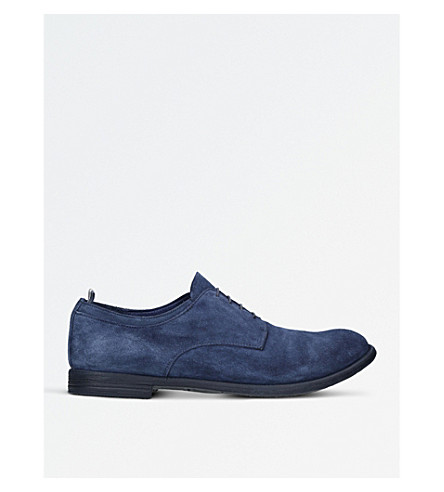 OFFICINE CREATIVE Archive suede derby shoes (Blue