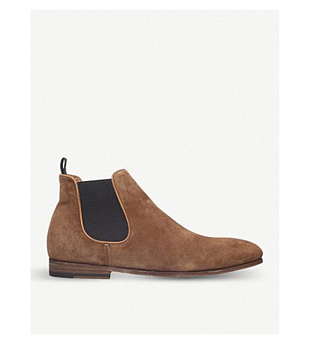 OFFICINE CREATIVE Revien suede Chelsea boots (Brown