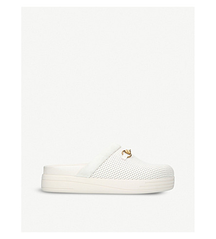GUCCI Majorca leather slippers (White