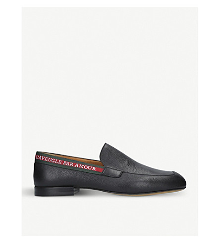 GUCCI Vicente leather loafers (Black
