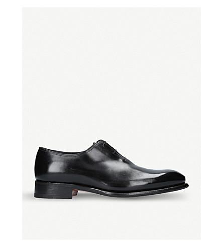 SANTONI Carter wholecut leather oxford shoes (Black