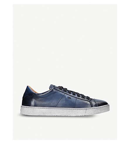 SANTONI Gloria soft leather snkr (Blue