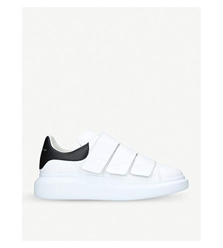 ALEXANDER MCQUEEN Leather platform trainers (White/blk