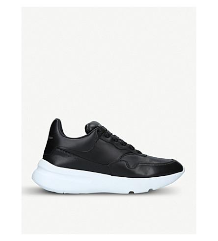 ALEXANDER MCQUEEN Runner leather trainers (Black