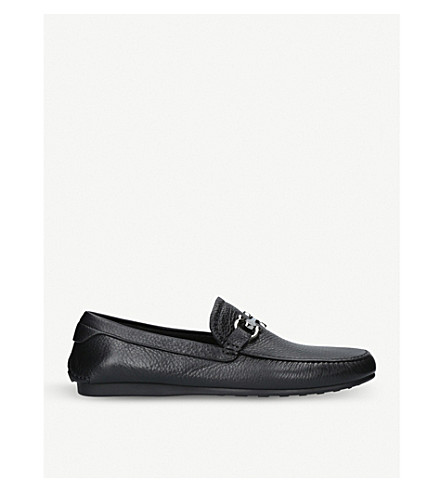 SALVATORE FERRAGAMO Cancun leather loafers (Black