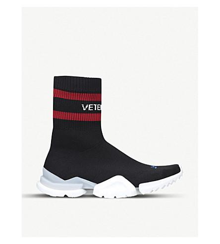 VETEMENTS Vetements x Reebok Sock Pump stretch-knit trainers (Black