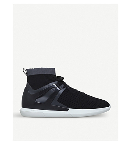BALLY Avallo caged mesh trainers (Blk/grey