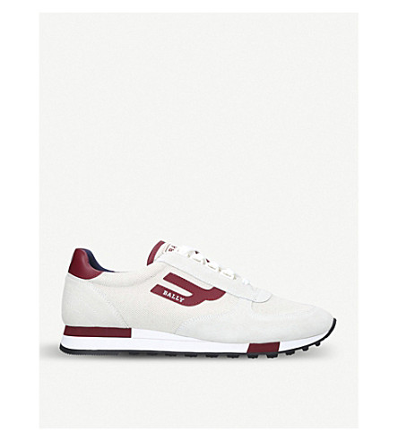 BALLY Gavino low-top canvas trainers (White/oth