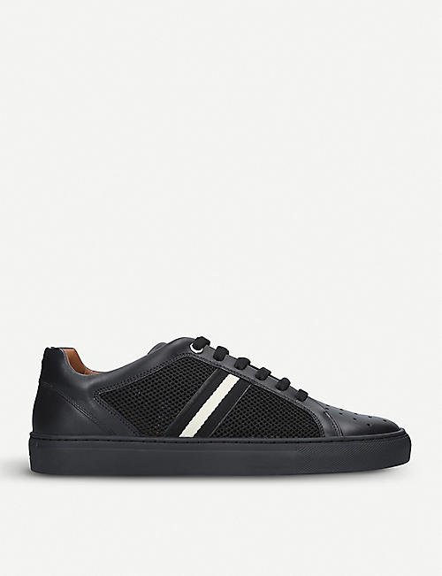 BALLY Herk lowtop leather and mesh trainers