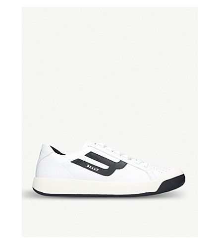 BALLY New Competition leather trainers (White/blk