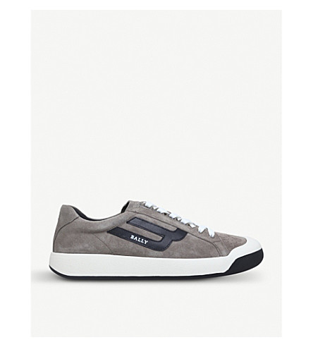 BALLY New Competition suede trainers (Taupe