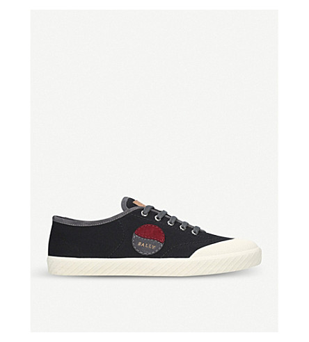 BALLY Silio canvas low-top trainers (Black