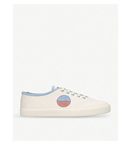 BALLY Silio canvas low-top trainers (White