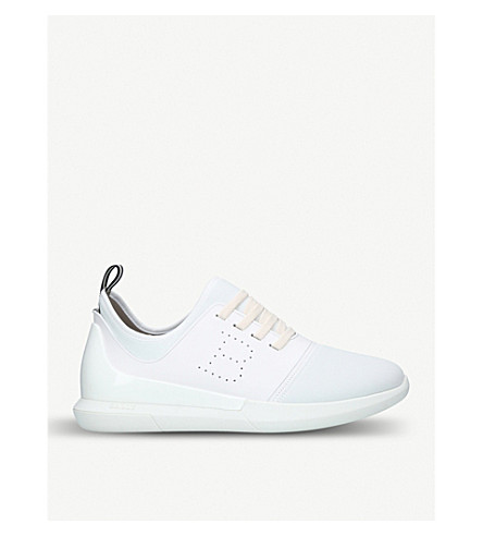BALLY Ultra neoprene and leather trainers (White