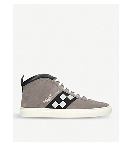 BALLY Vita-Parcours suede high-top trainers (Taupe