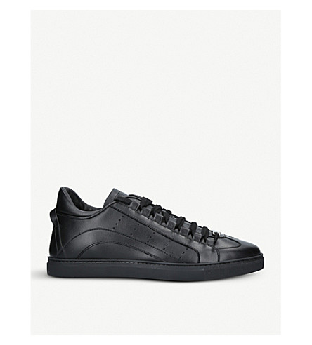 DSQUARED2 551 leather trainers (Black
