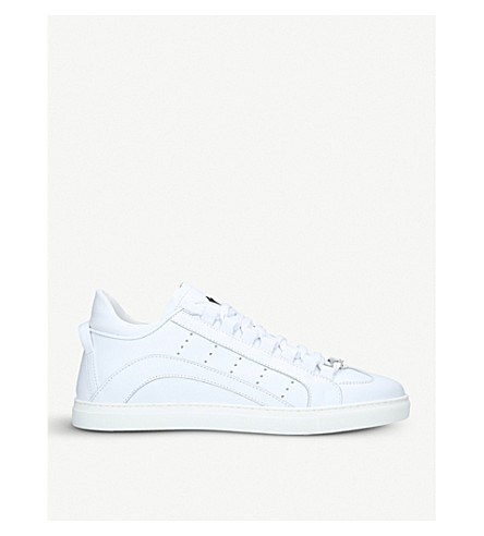 DSQUARED2 551 leather trainers (White