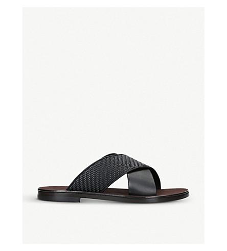 ERMENEGILDO ZEGNA Rosario leather sandals (Black