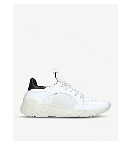 MCQ ALEXANDER MCQUEEN Gishiki leather and neoprene low-top trainers (White