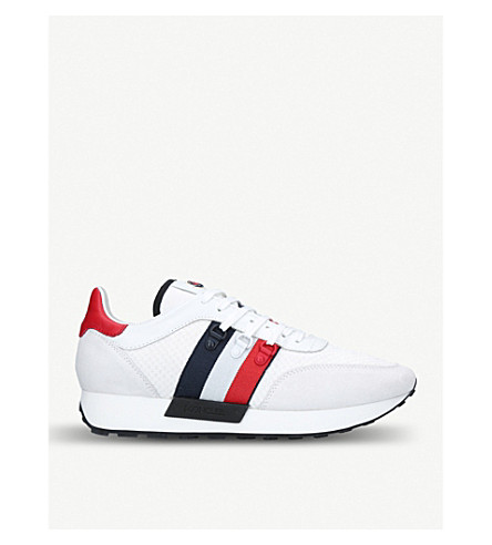 MONCLER Horace suede and textile trainers (White