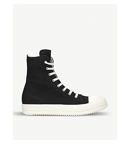 DRKSHDW Hi-top canvas trainers (Blk/white