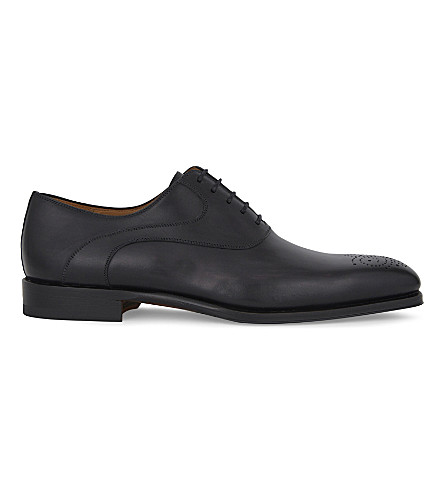 MAGNANNI Leather Oxford brogues (Grey