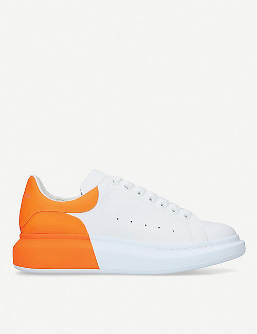 7b11b56bb9c4 ALEXANDER MCQUEEN Show two-tone leather platform sneakers