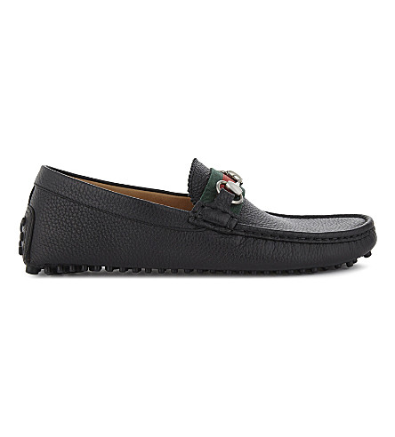 GUCCI Damo horsebit driving shoes (Black