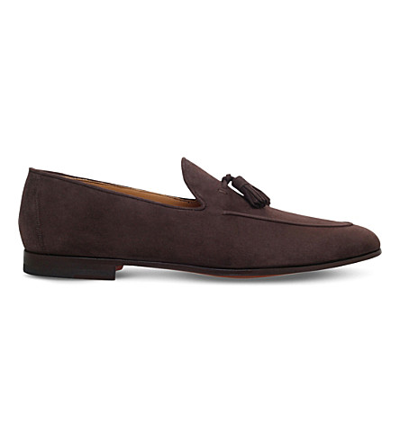 MAGNANNI Tassel suede loafers (Brown