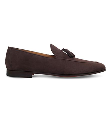 MAGNANNI 流苏麂皮绒便鞋 (棕色
