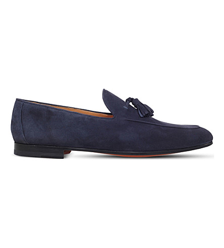 MAGNANNI Tasselled suede loafers (Navy