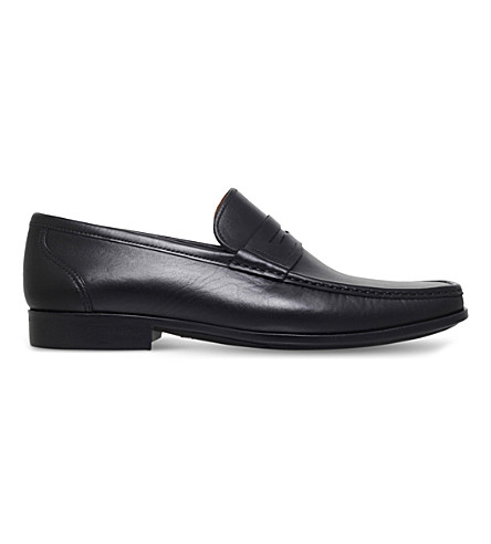 MAGNANNI Ares leather penny loafers (Black