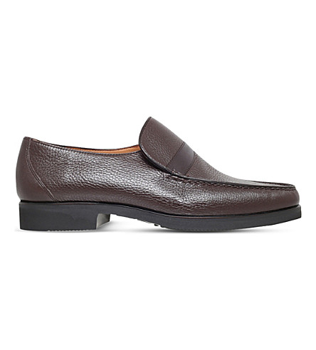 STEMAR Wide-fit leather loafers (Brown