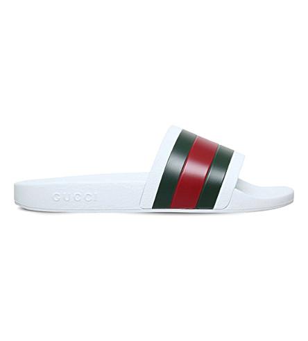 GUCCI Pursuit pool sandals (White