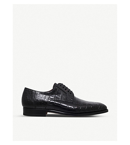 MAGNANNI Alligator derby shoes (Black